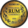 Oceněno Madrid International Rum Conf. 2013 / Oro